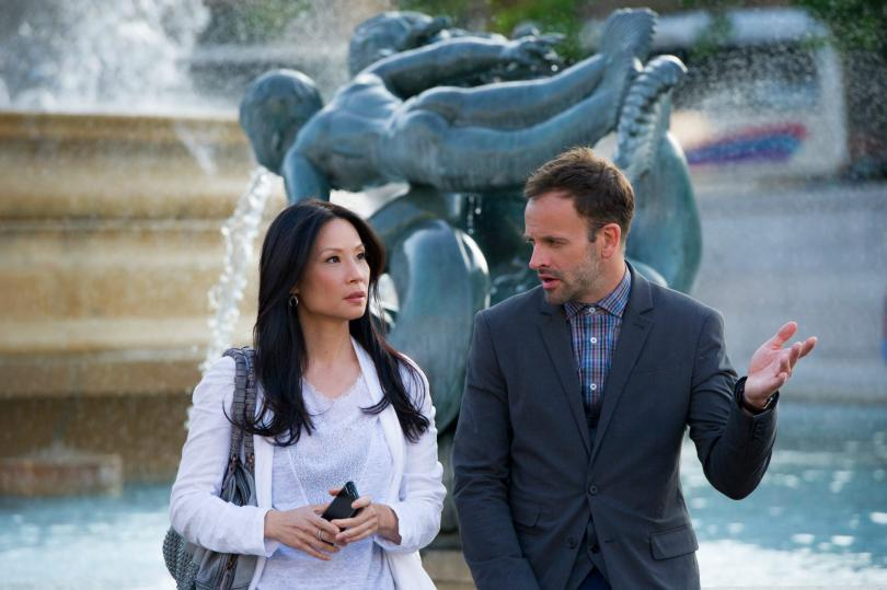 Lucy Liu as Joan Watson and Jonny Lee Miller as Sherlock Holmes