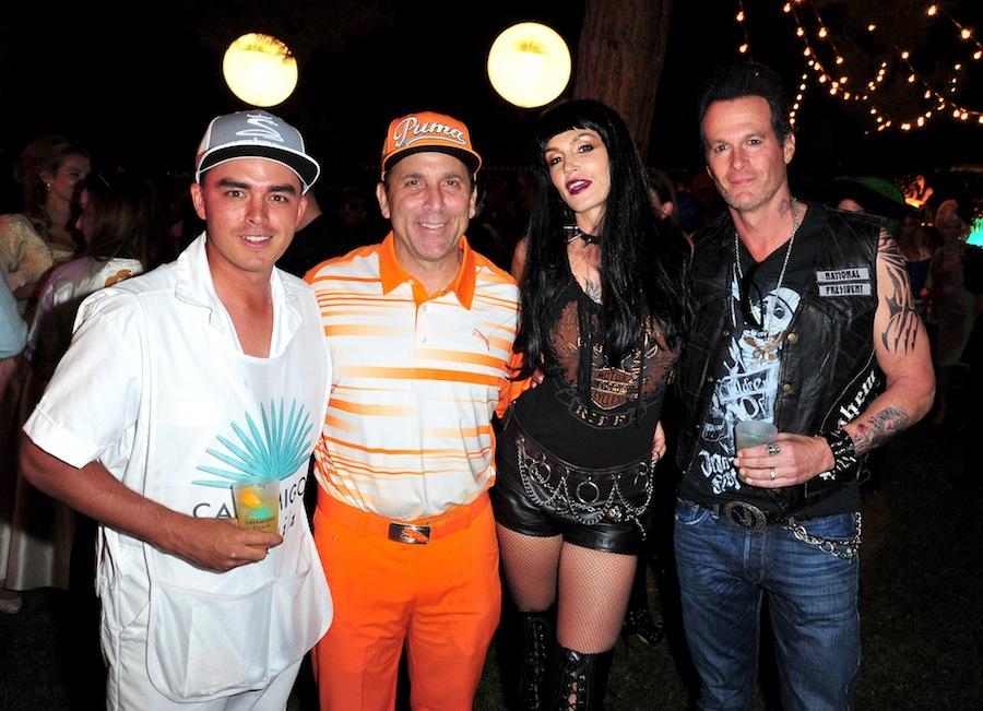 pro golfer rickie fowler disocvery land company ceo mike meldman model cindy crawford and - Halloween Parties In Hollywood