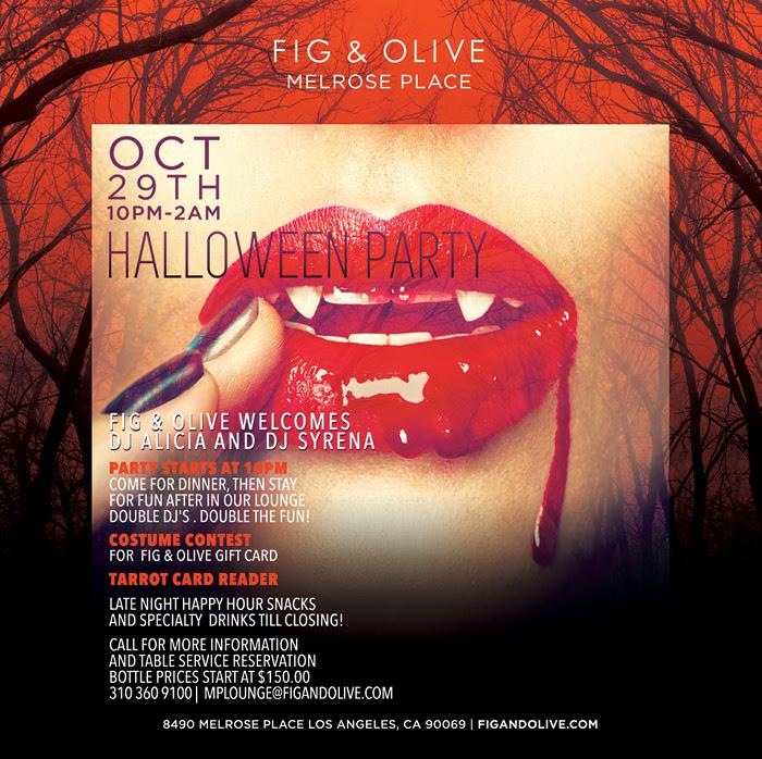 Fig & Olive Halloween Party