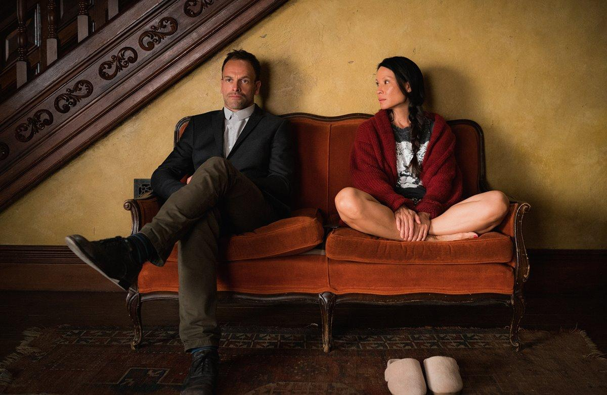 Jonny Lee Miller as Sherlock and Lucy Liu as Joan Watson