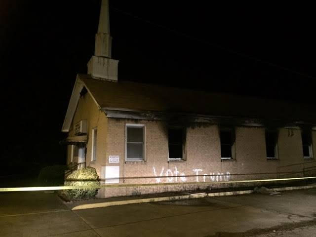 Hopewell Baptist church burned