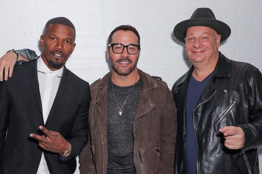 Jamie Foxx, Jeremy Piven and Jeffrey Ross