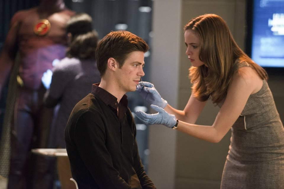 Grant Gustin as Barry and Danielle Panabaker as Caitlin