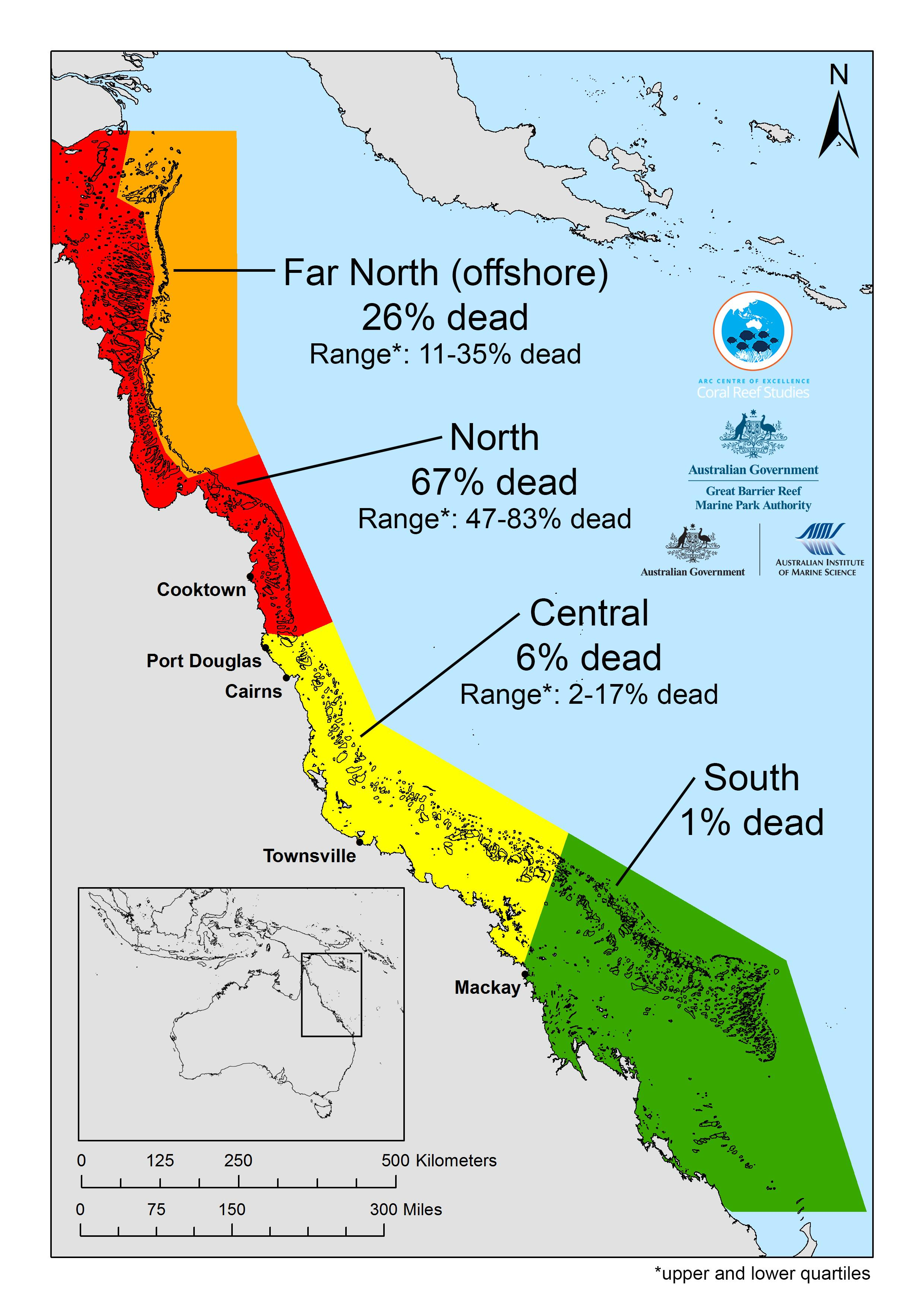 Great Barrier Reef Dying Suffering Worst Coral Bleaching