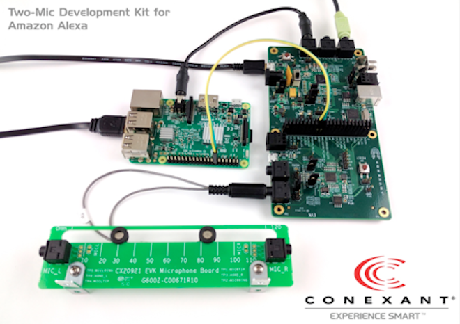 Conexant and Amazon launch the AudioSmart™ 2-mic Development Kit
