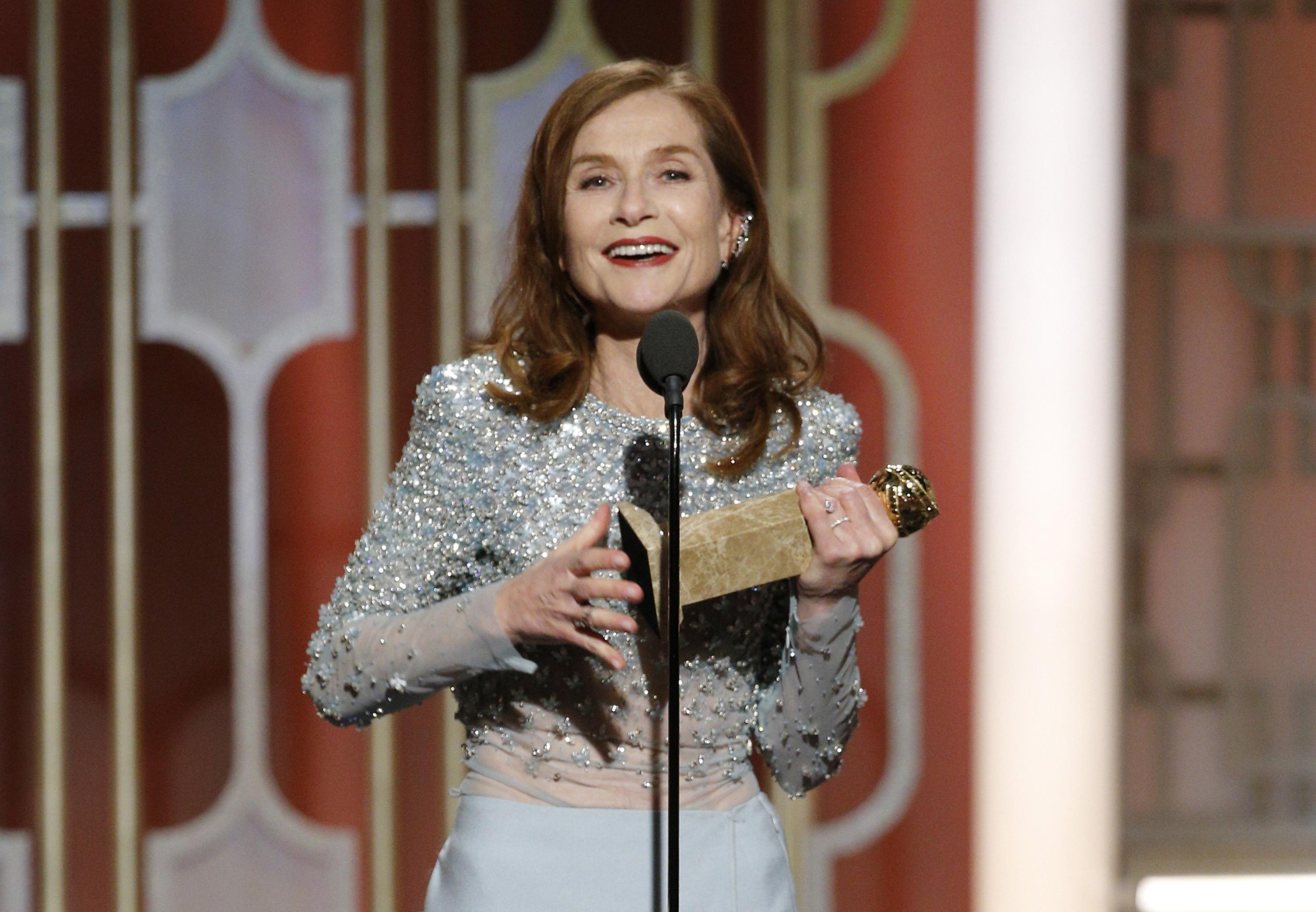 Golden Globes 2017: Isabelle Huppert Wins Best Actress For 'Elle'