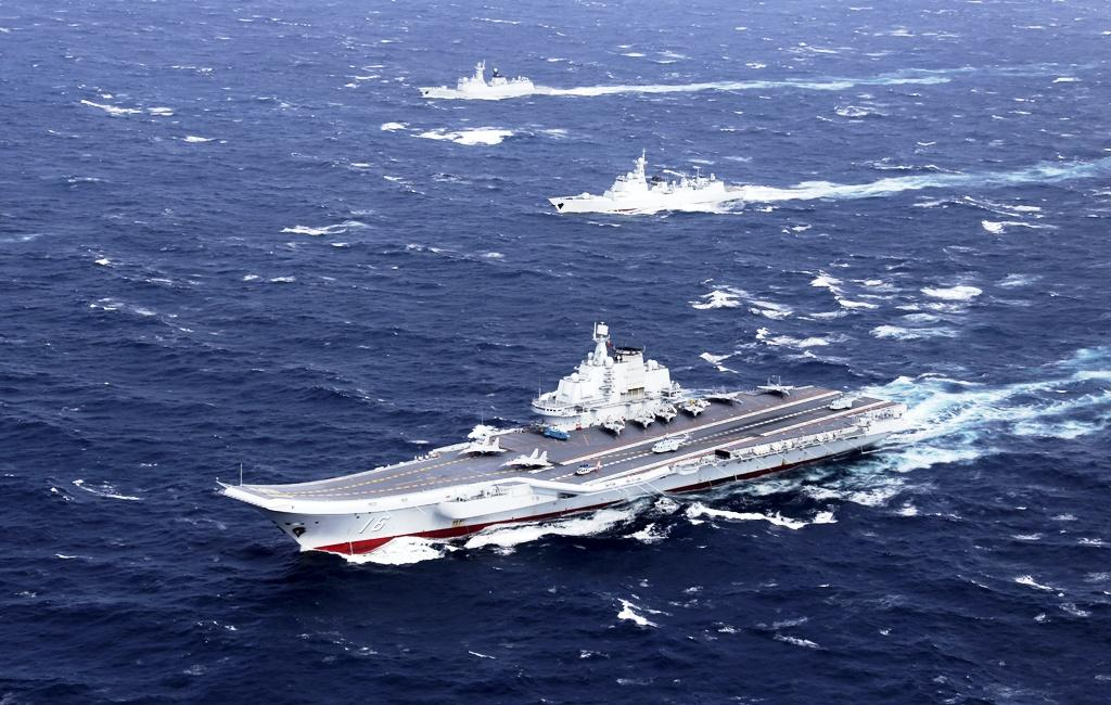 Liaoning aircraft carrier in South China Sea