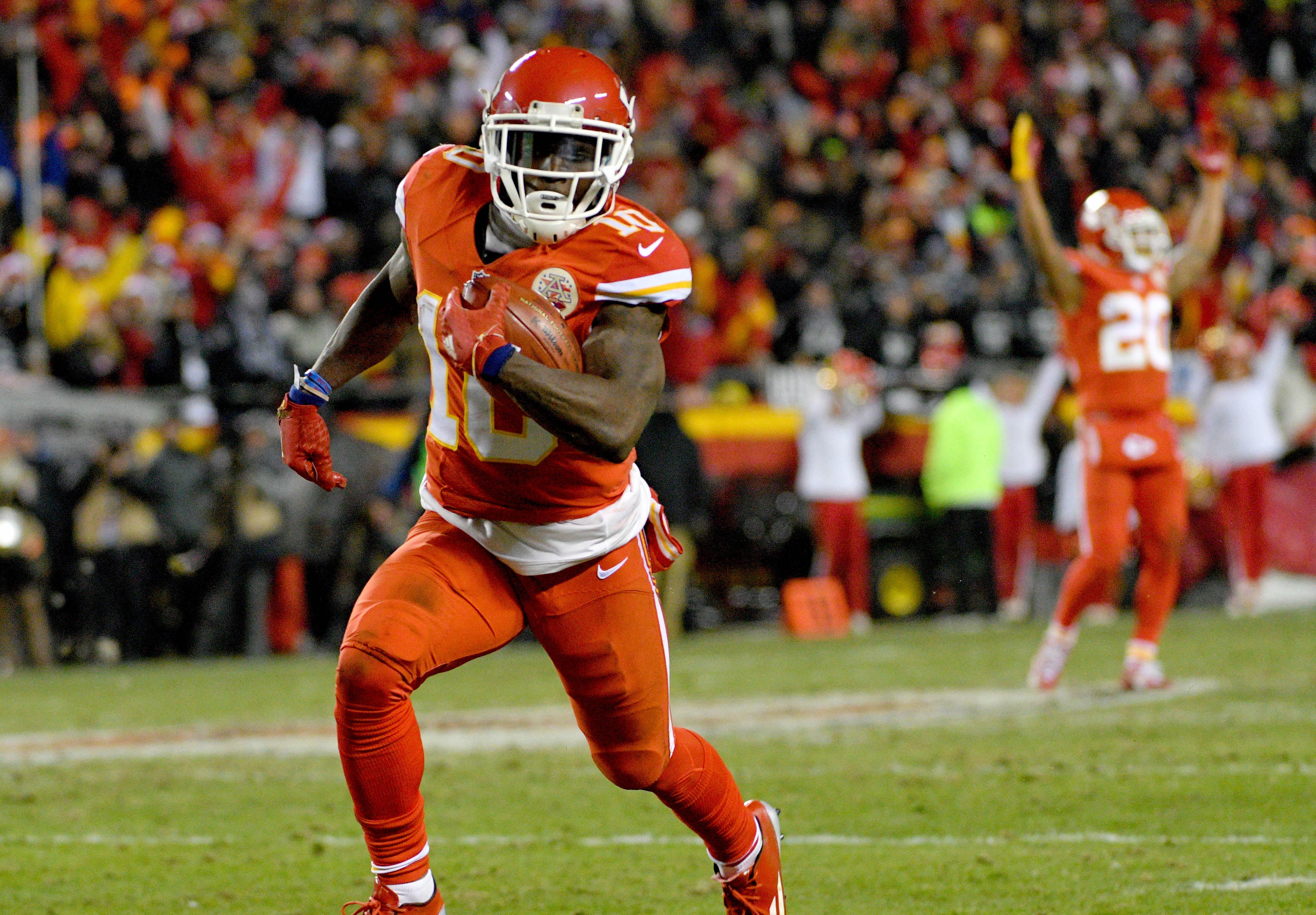 fa184e807f3 Chiefs receiver Tyreek Hill made his first Pro Bowl as a rookie, and will  serve as the AFC's kick return specialist. Photo: Reuters