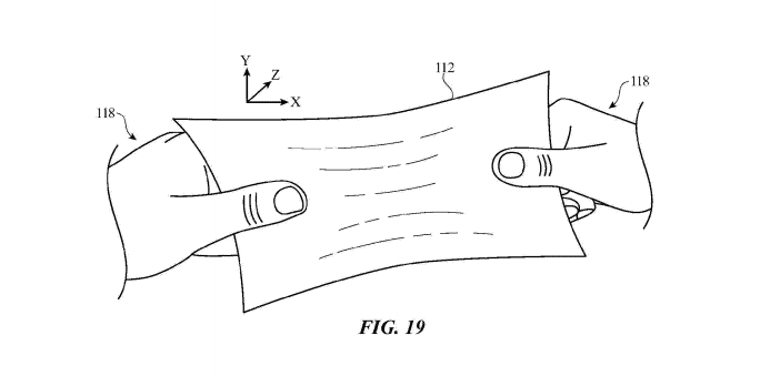 Apple patent for stretchable display.