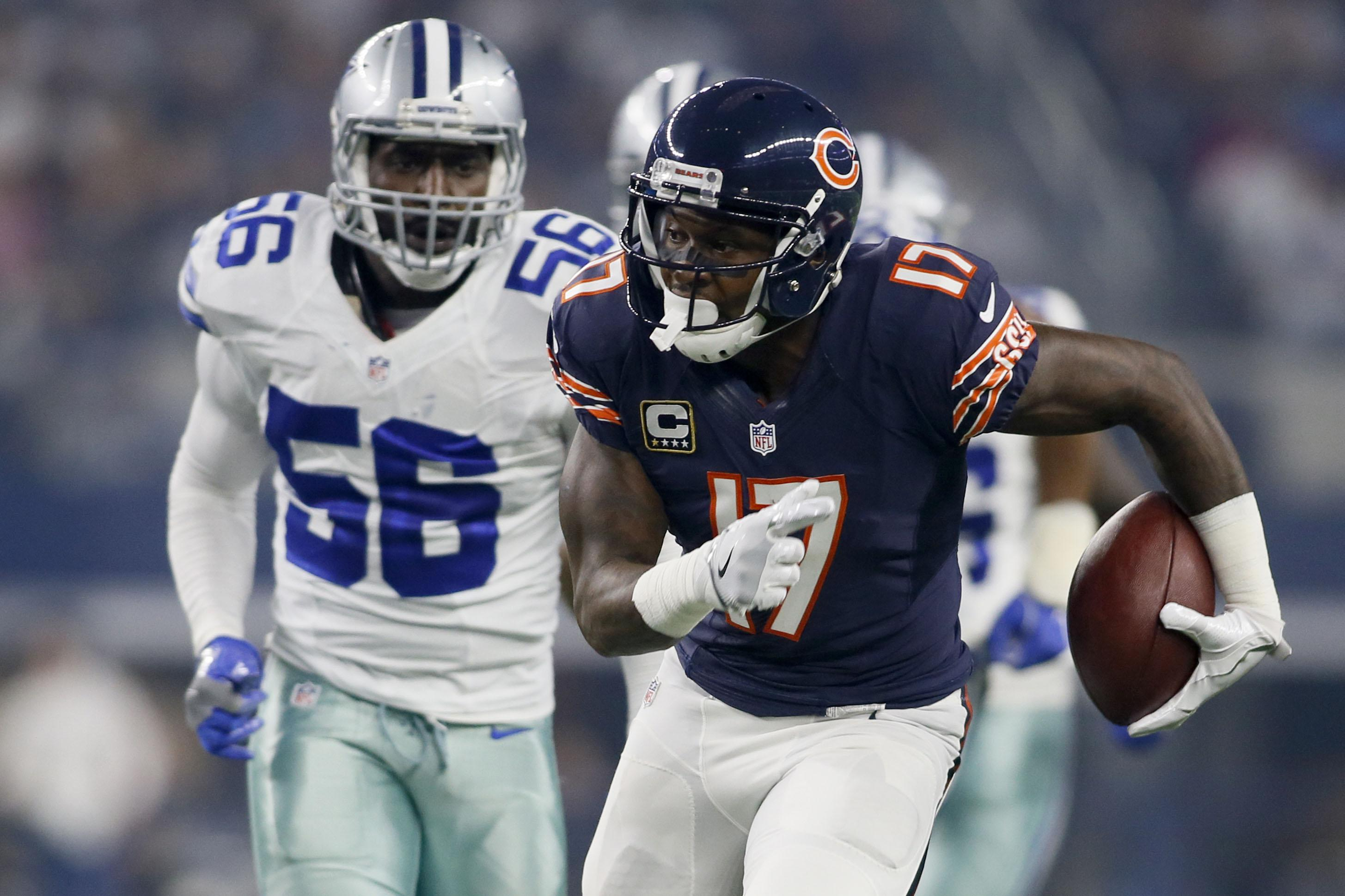 Former Bears receiver Jeffery signs 1-year, $14M deal with Eagles