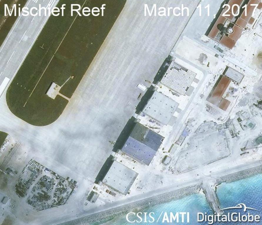 Mischief Reef in Spratly Islands