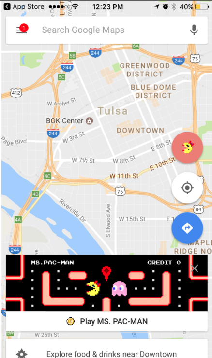Google Maps Ms. Pac-Man Game Can Be Played In Celebration Of April ...