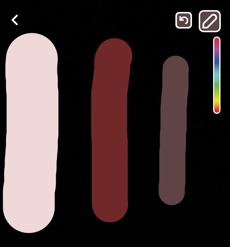 63f2a00b37a9b The brush on Snapchat can be adjusted to many different sizes and colors.  Photo  Snapchat