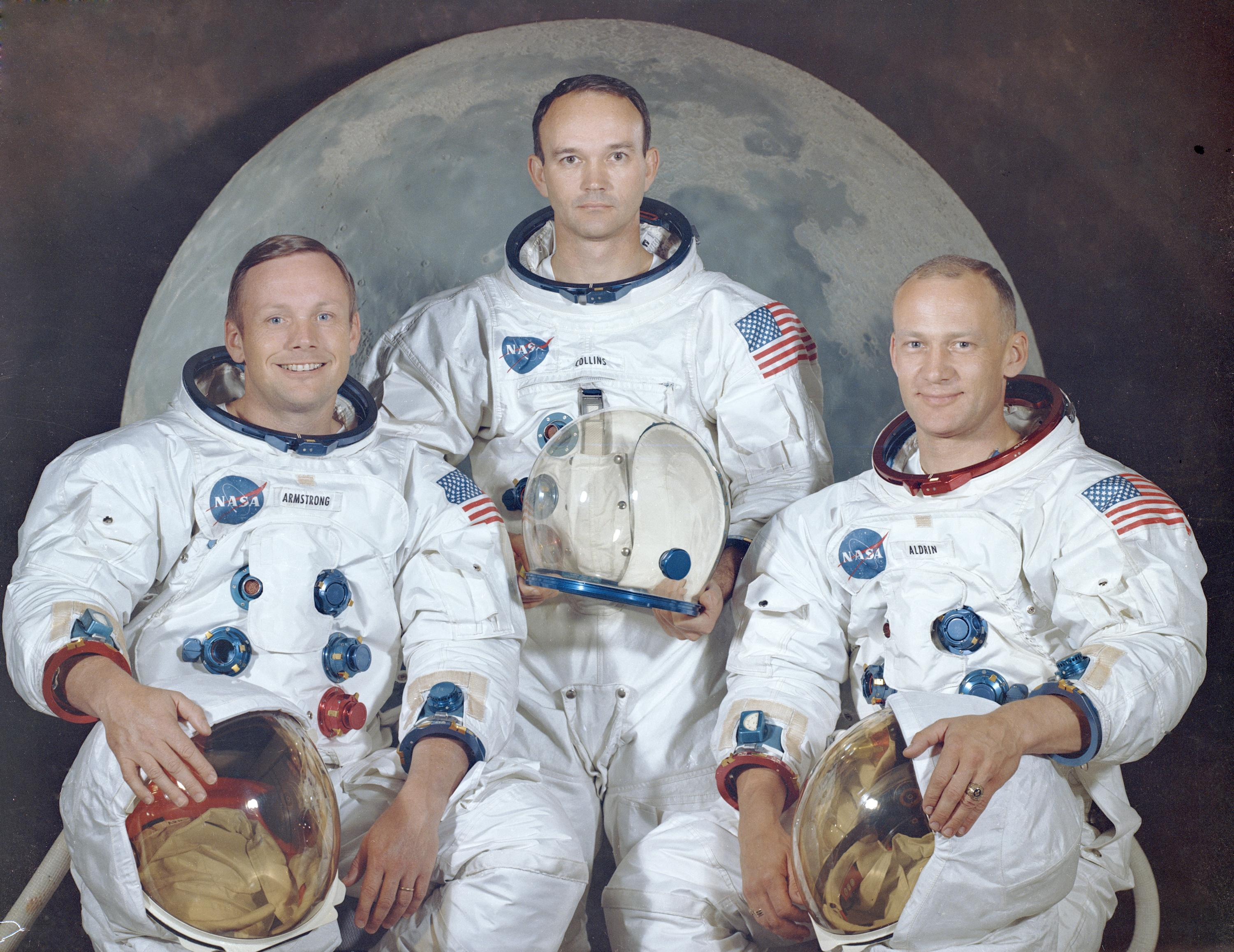 The Apollo 11 Crew In 1969 From Left To Right Neil Armstrong Mission Commander Michael Collins And Edwin E Buzz Aldrin Are Pictured Photo NASA