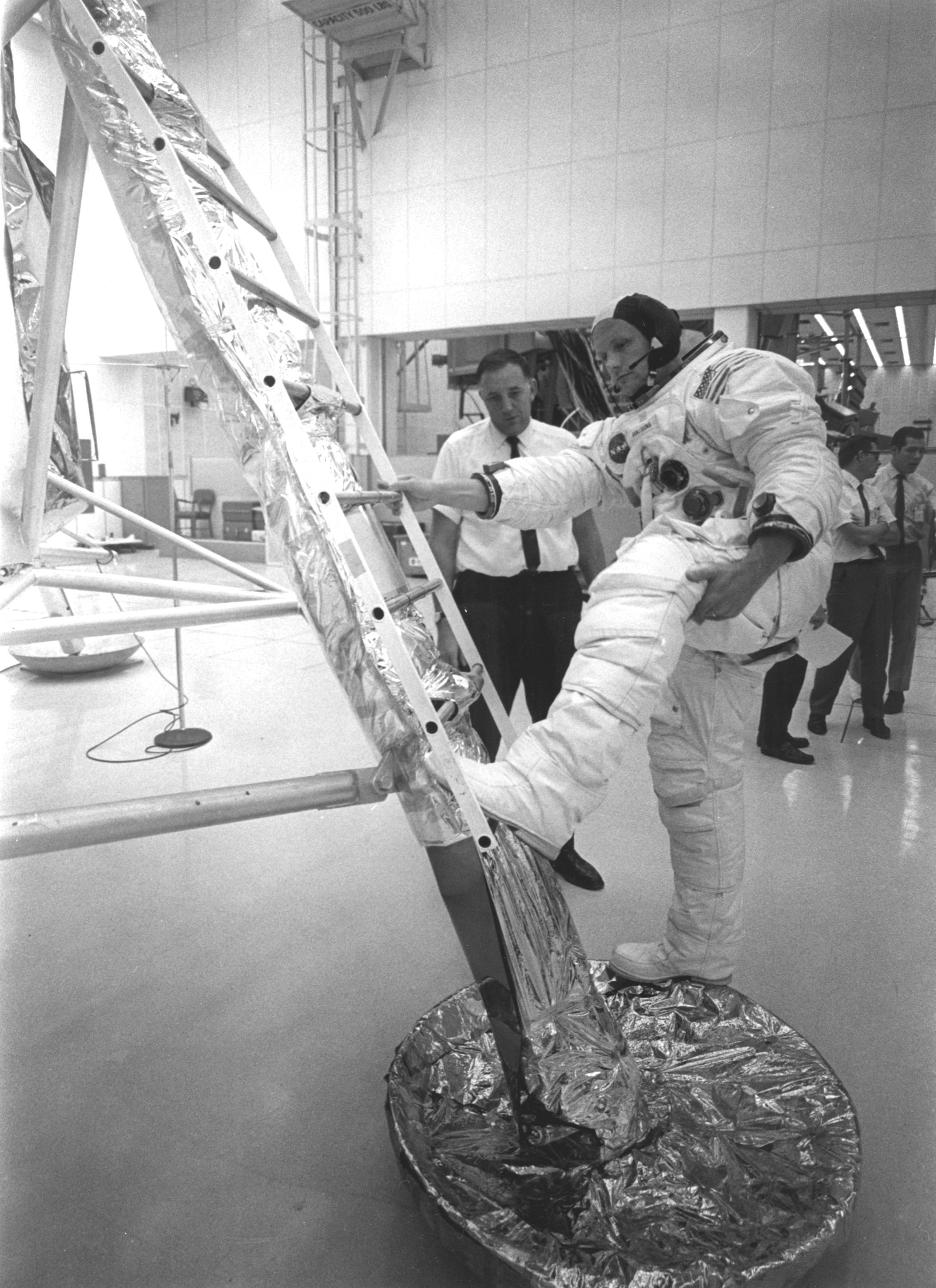 space ladder apollo 11