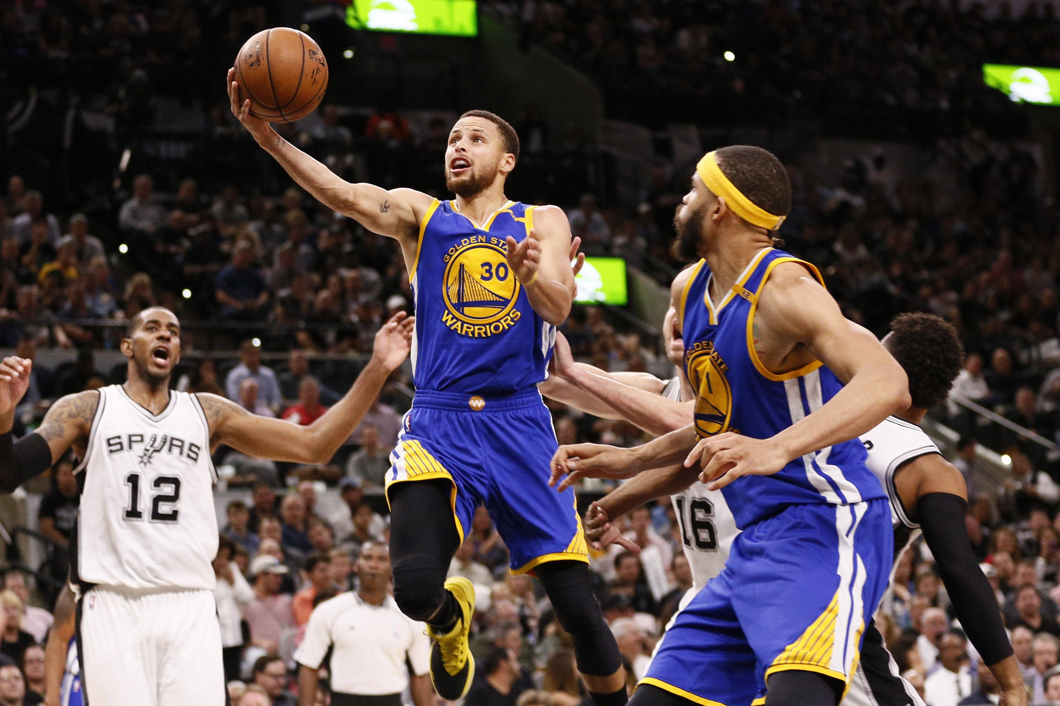 Stephen Curry Spurs Warriors