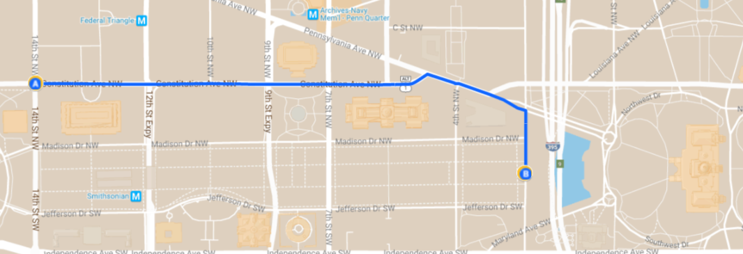 March for Science DC route
