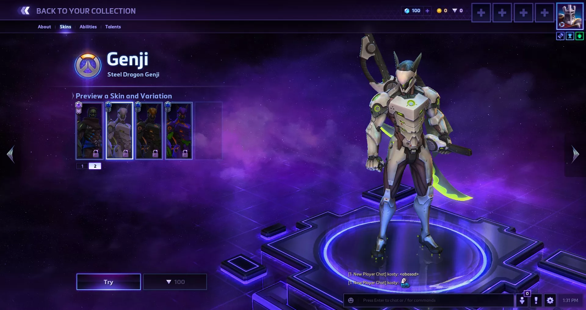 Heroes of The Storm Nexus Challenge Officer D.va Oni Genji Overwatch