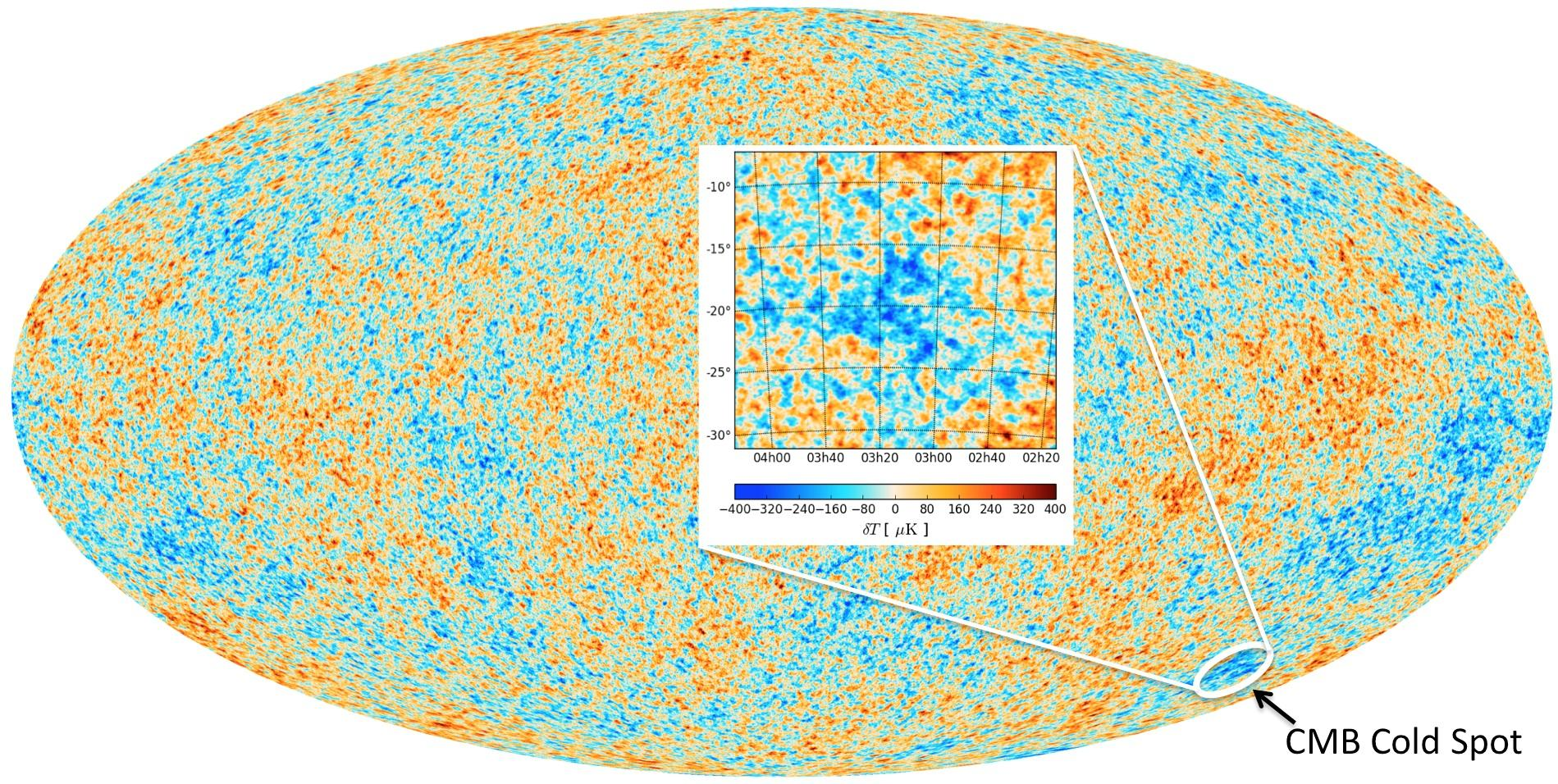 """Cold Spot In Universe's Cosmic Microwave Background May Have """"Exotic Origin"""""""