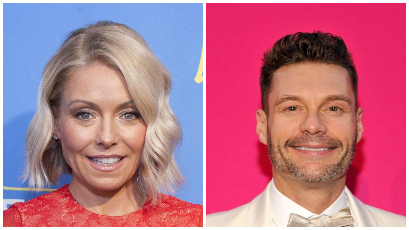 Kelly Ripa reveals Ryan Seacrest is new 'Live!' co-host