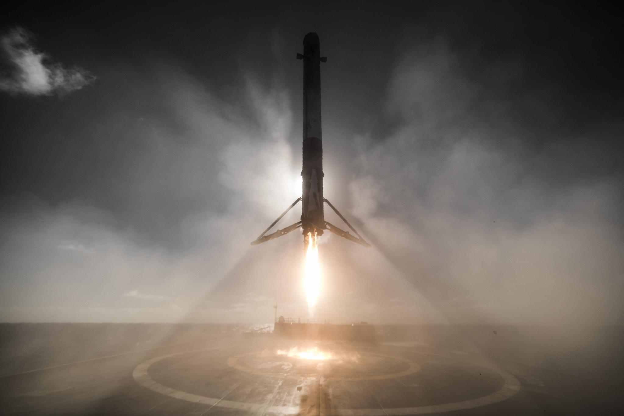Iridium 1 SpaceX landing
