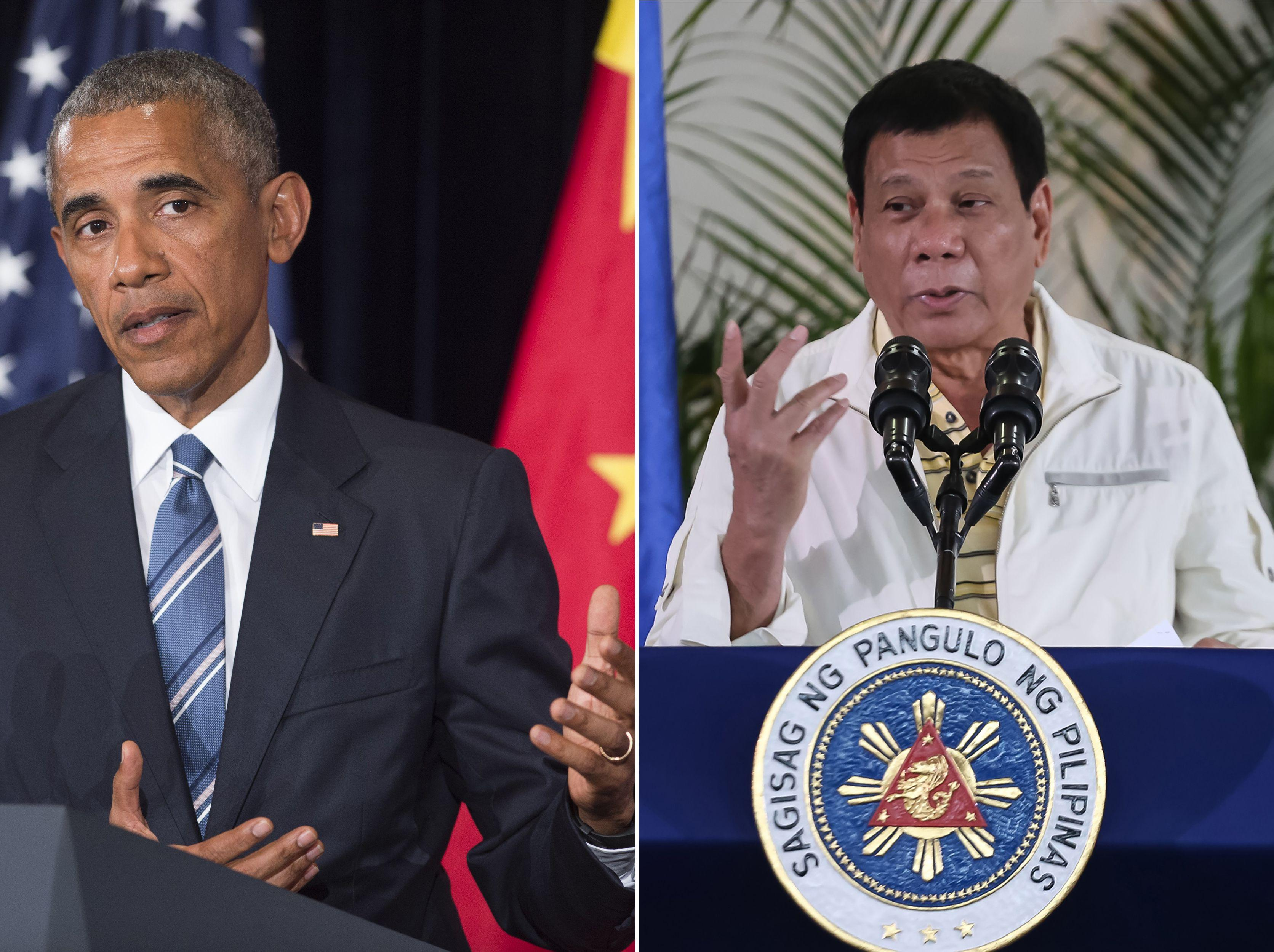 Barack Obama and Rodrigo Duterte