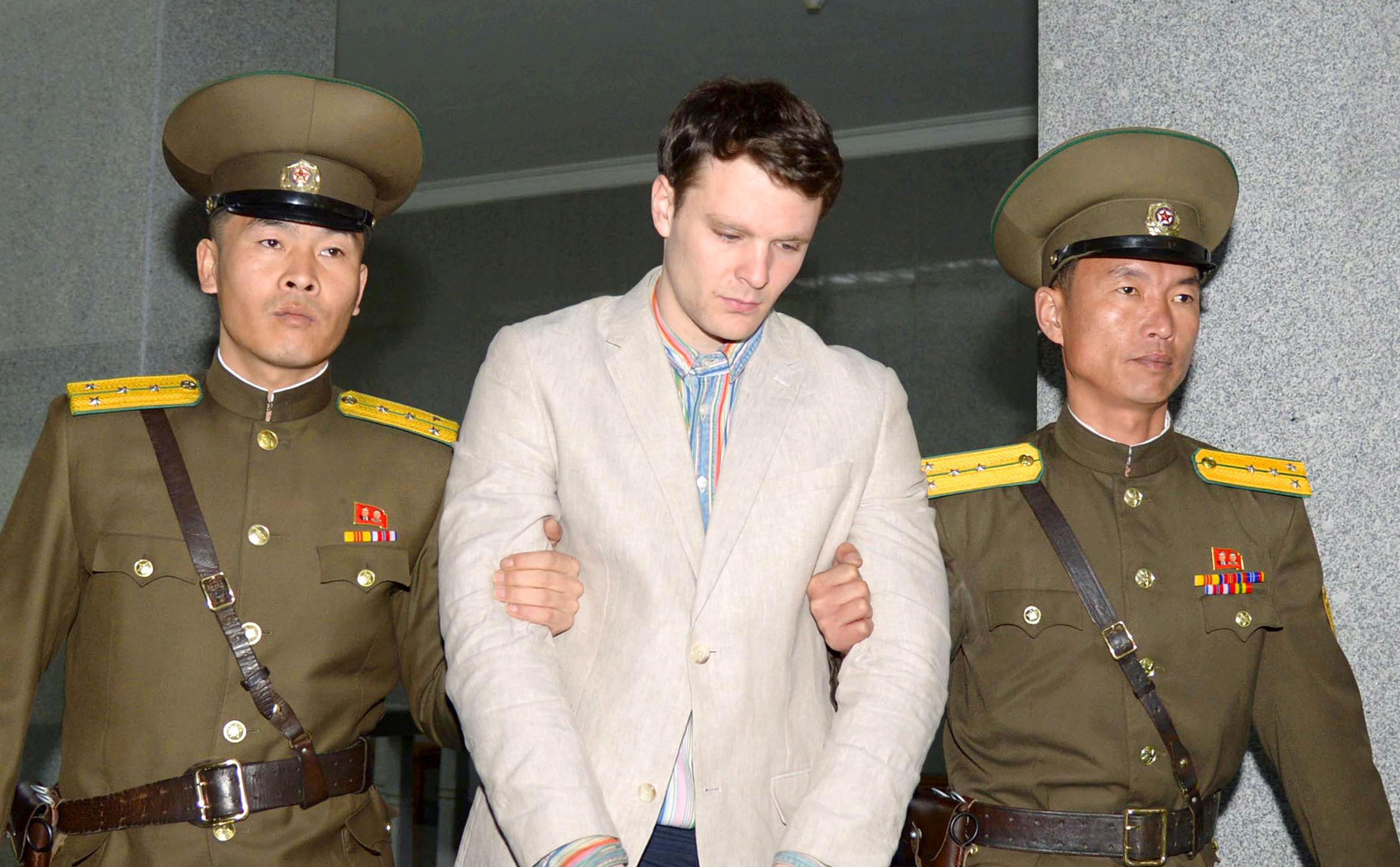 Trump calls Warmbier's death a 'total disgrace'; public service set
