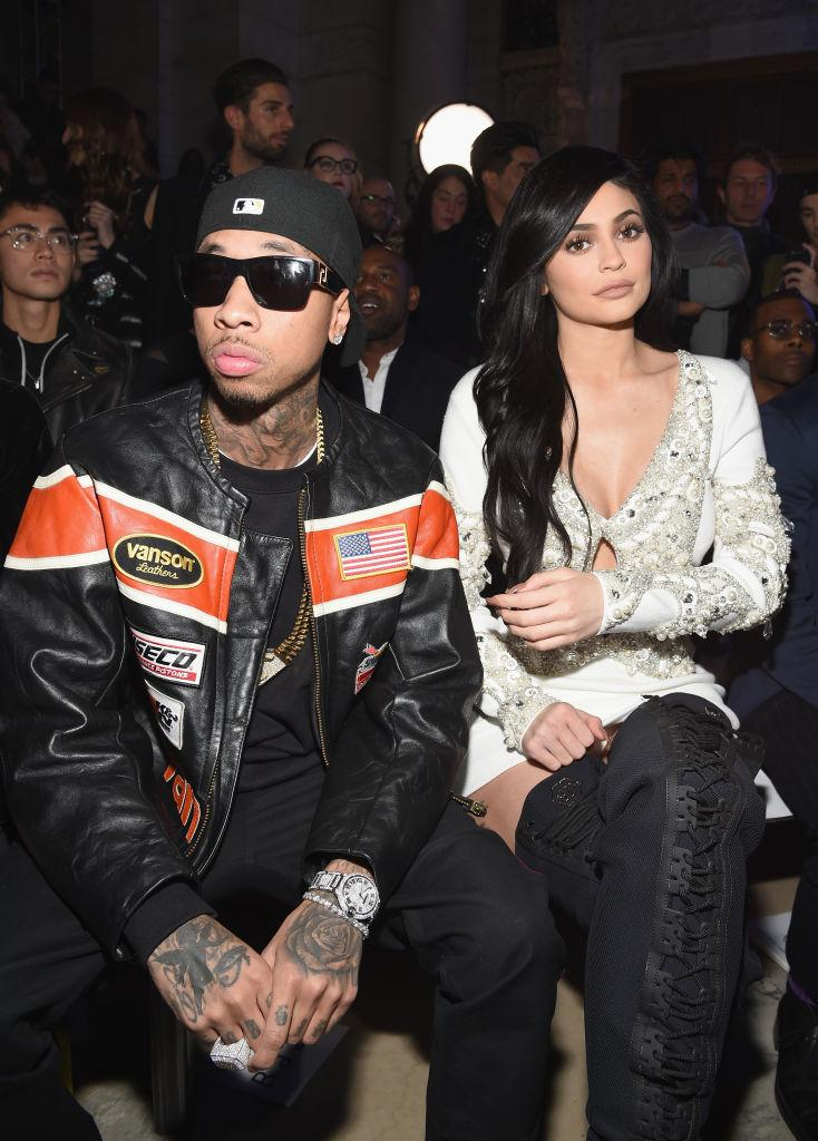 ​​​​​​​Tyga admitted that his feelings for Kylie Jenner has changed since their break up. The former couple is pictured attending the Philipp Plein Fall/Winter Women's And Men's Fashion Show on Feb. 13, 2017 in New York City. Photo: Getty Images