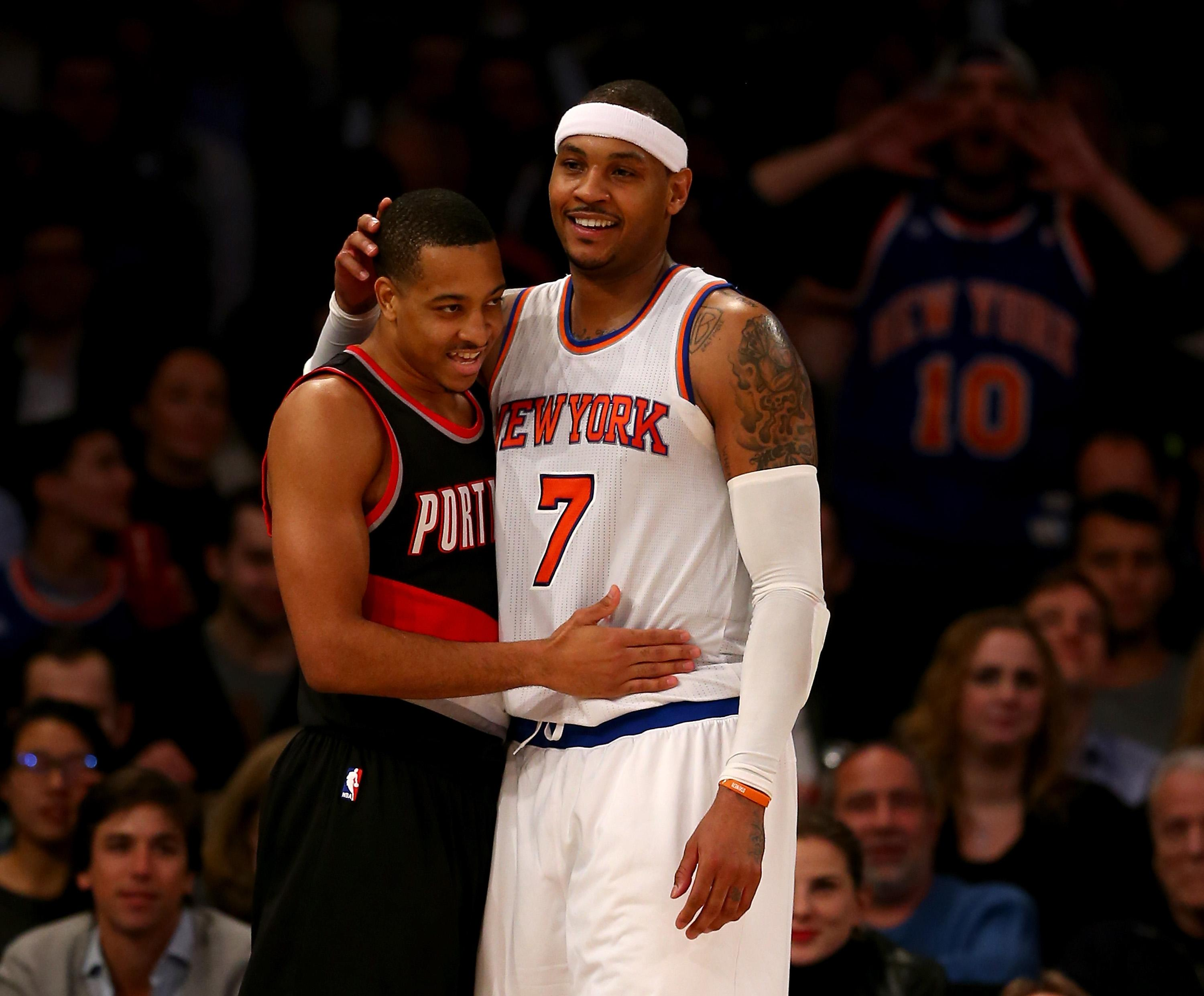 Lillard, McCollum trying to sell Melo on Portland