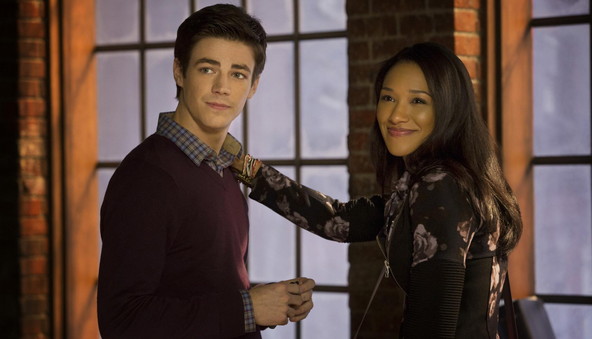 Grant Gustin as Barry Candice Patton as Iris