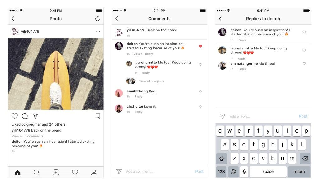 Instagram begins rolling out thread-organized comments