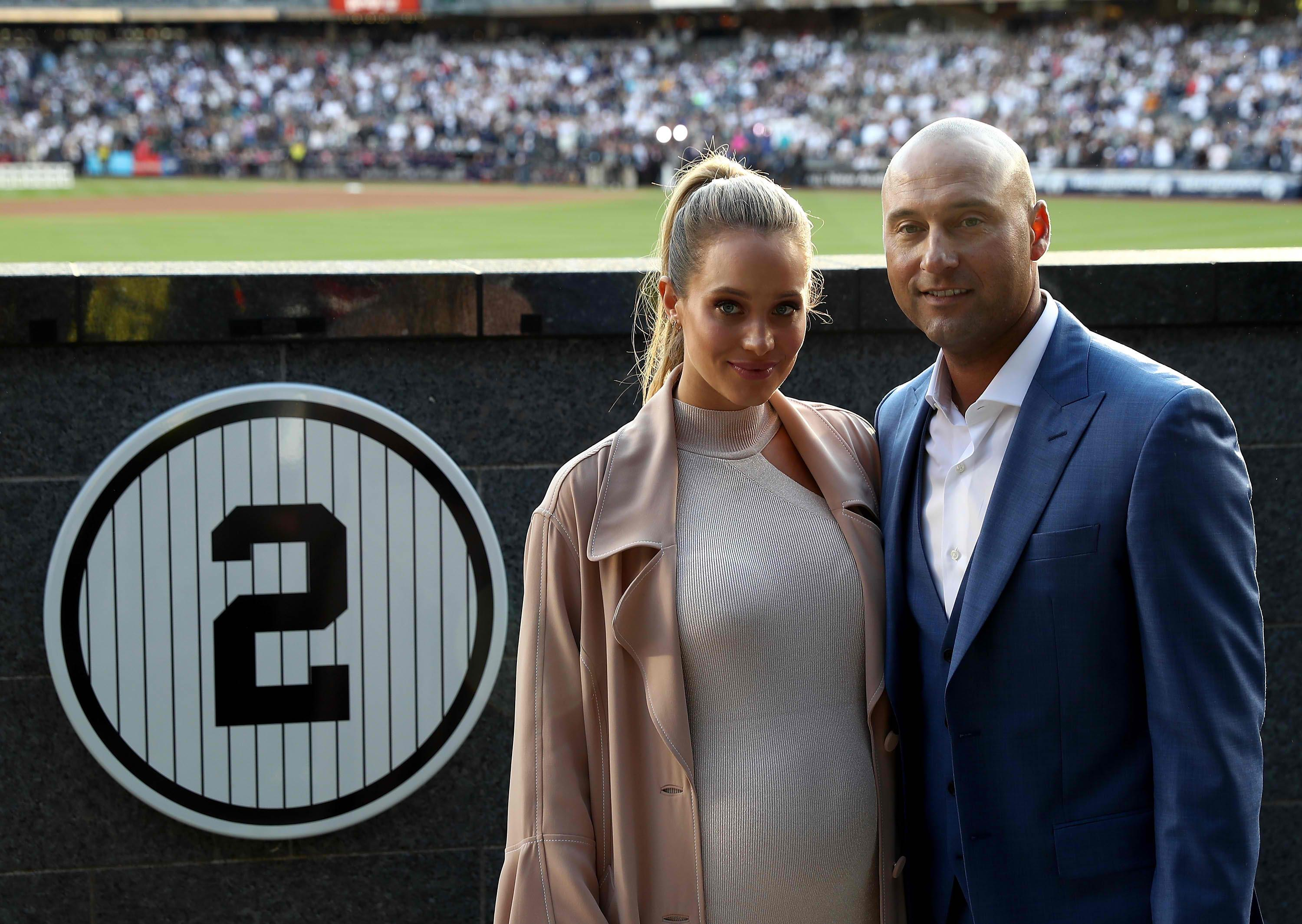Derek and Hannah Jeter celebrate birth of first child, daughter Bella Raine