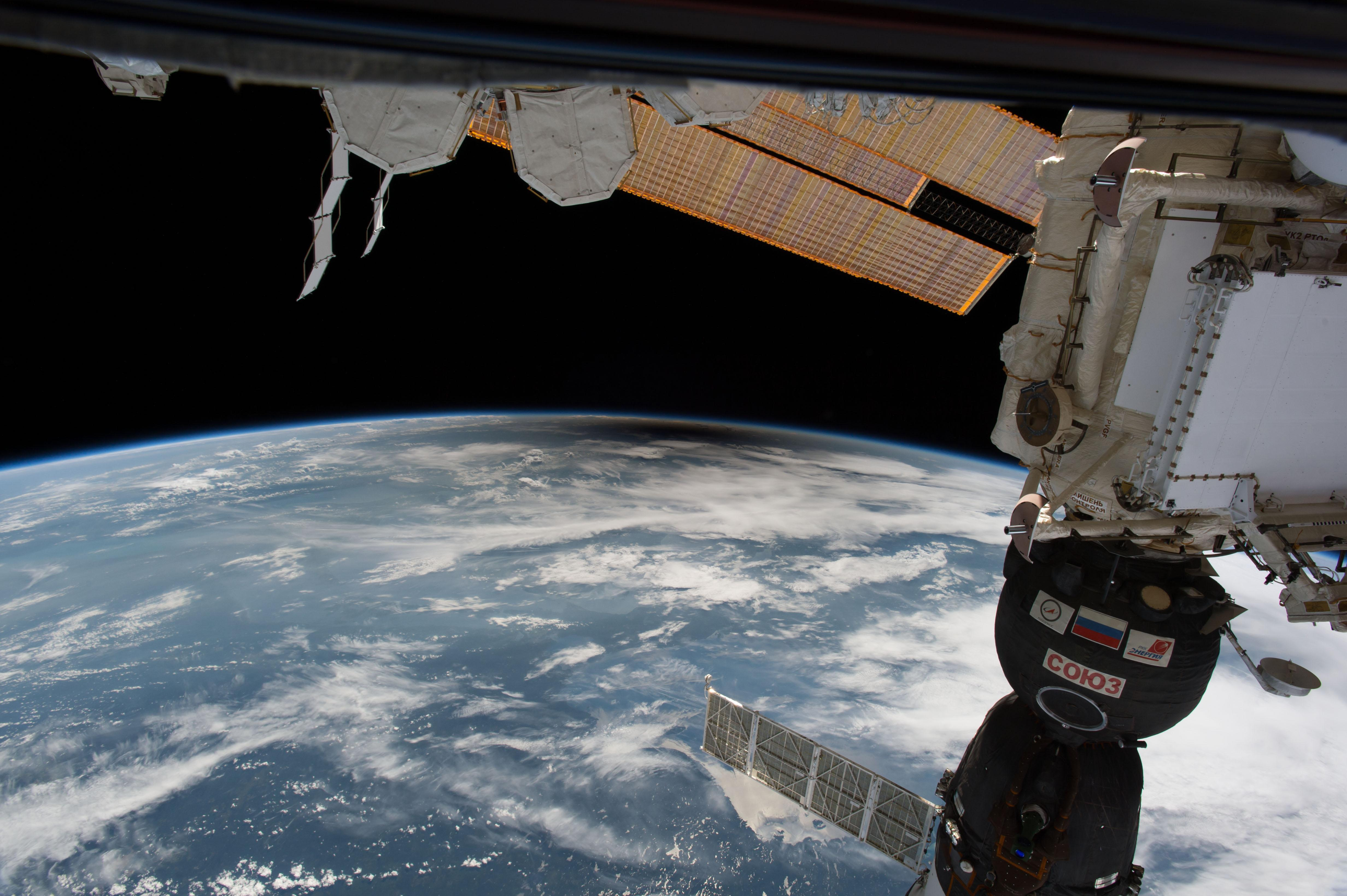 solar eclipse from iss
