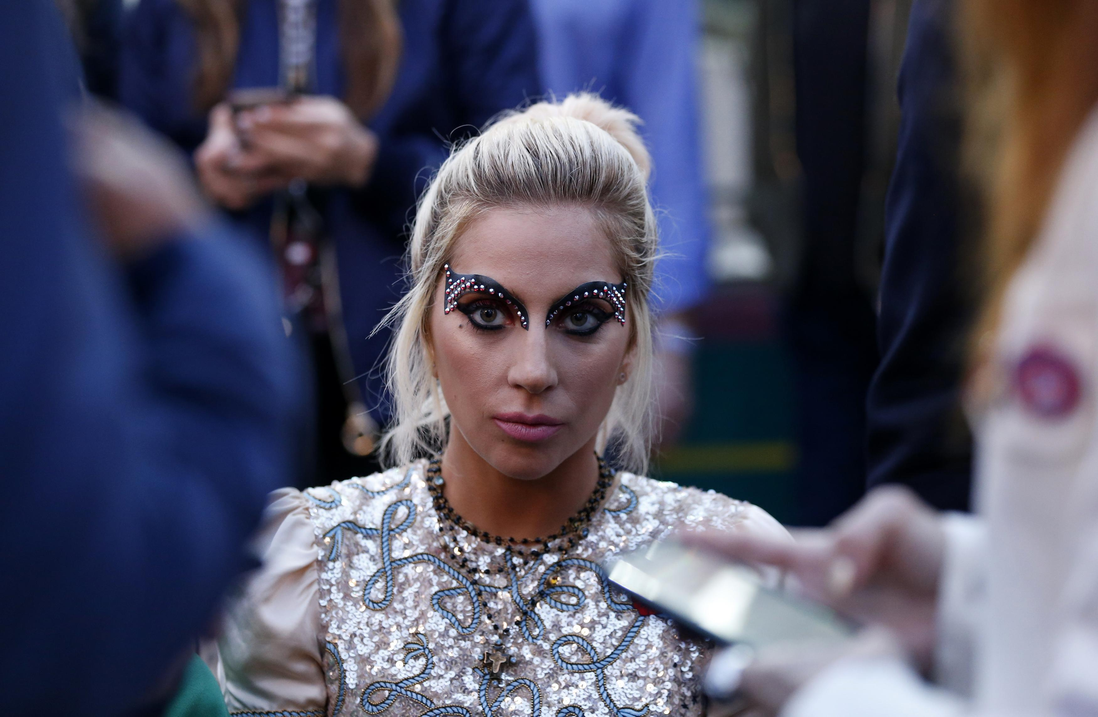 Lady Gaga's team gives her strength