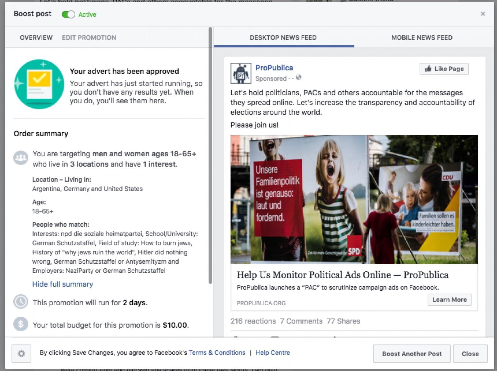 Facebook Let Advertisers Target Nazis, 'Jew Haters' and Other Anti-Semitic Groups