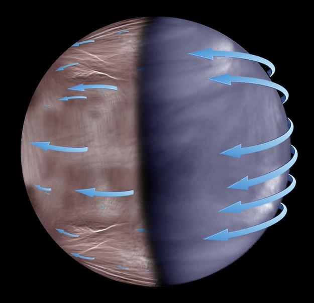 Satellite Reveals Venus' Mysterious Night Side