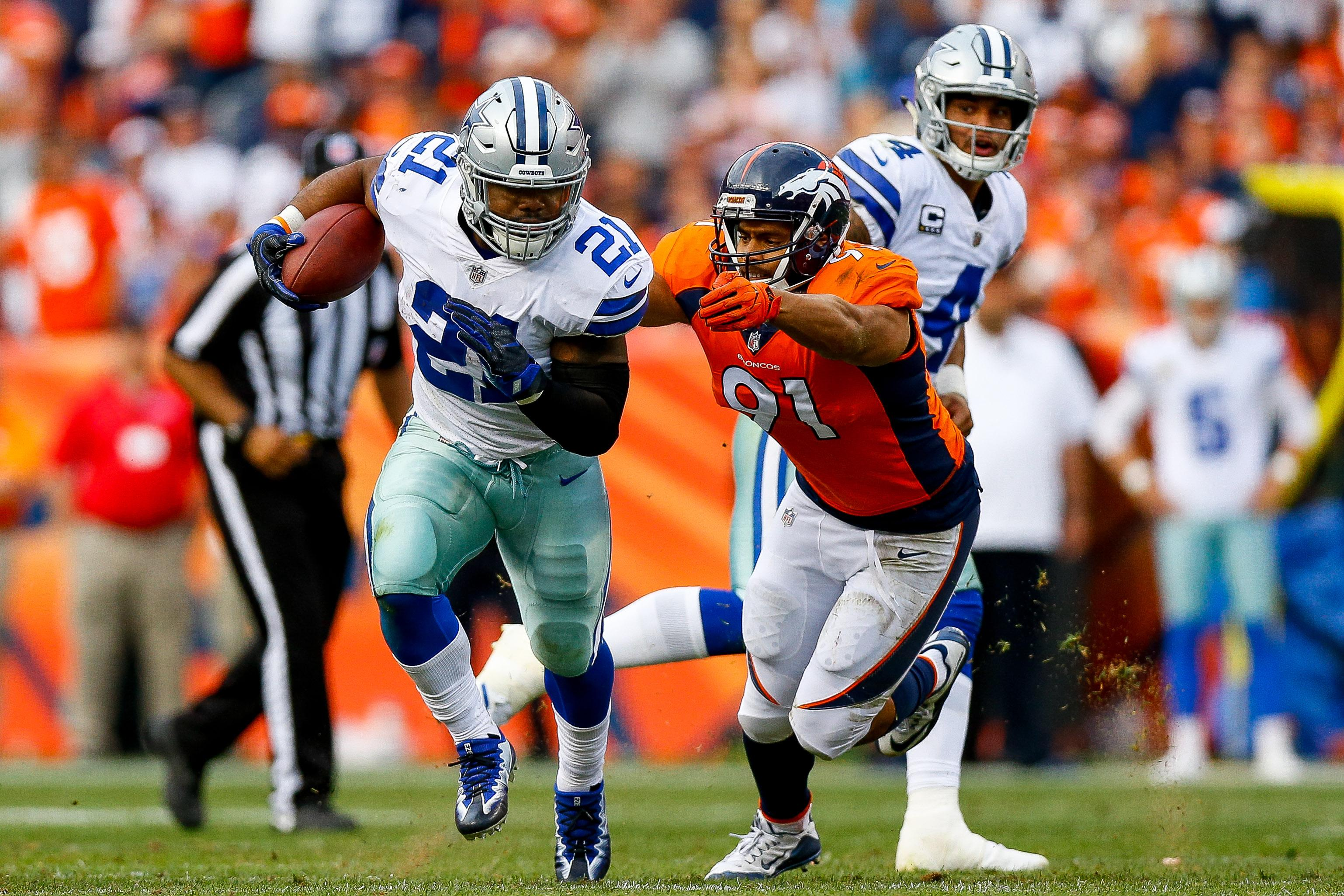 Cowboys RB Ezekiel Elliott can't defend lack of effort against Broncos