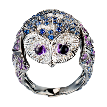 Luxury: Jeweled Bird Boucheron chouette-ring-jrg00707