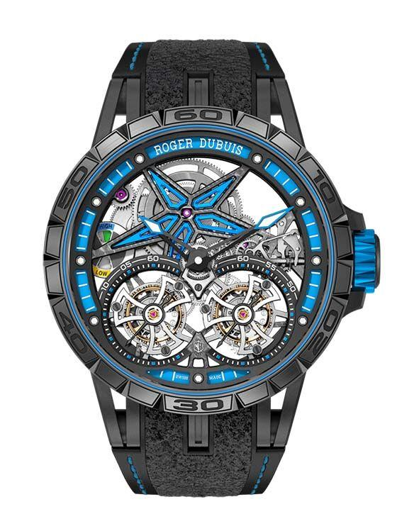 luxury TourbillonRDDBEX0599-Excalibur-Spider-Pirelli-Double-flying-tourbillon