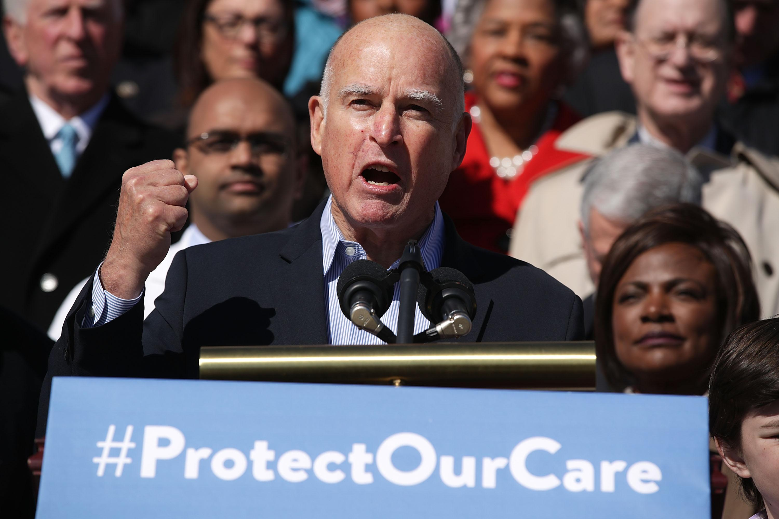 Jerry Brown -California- Health Care