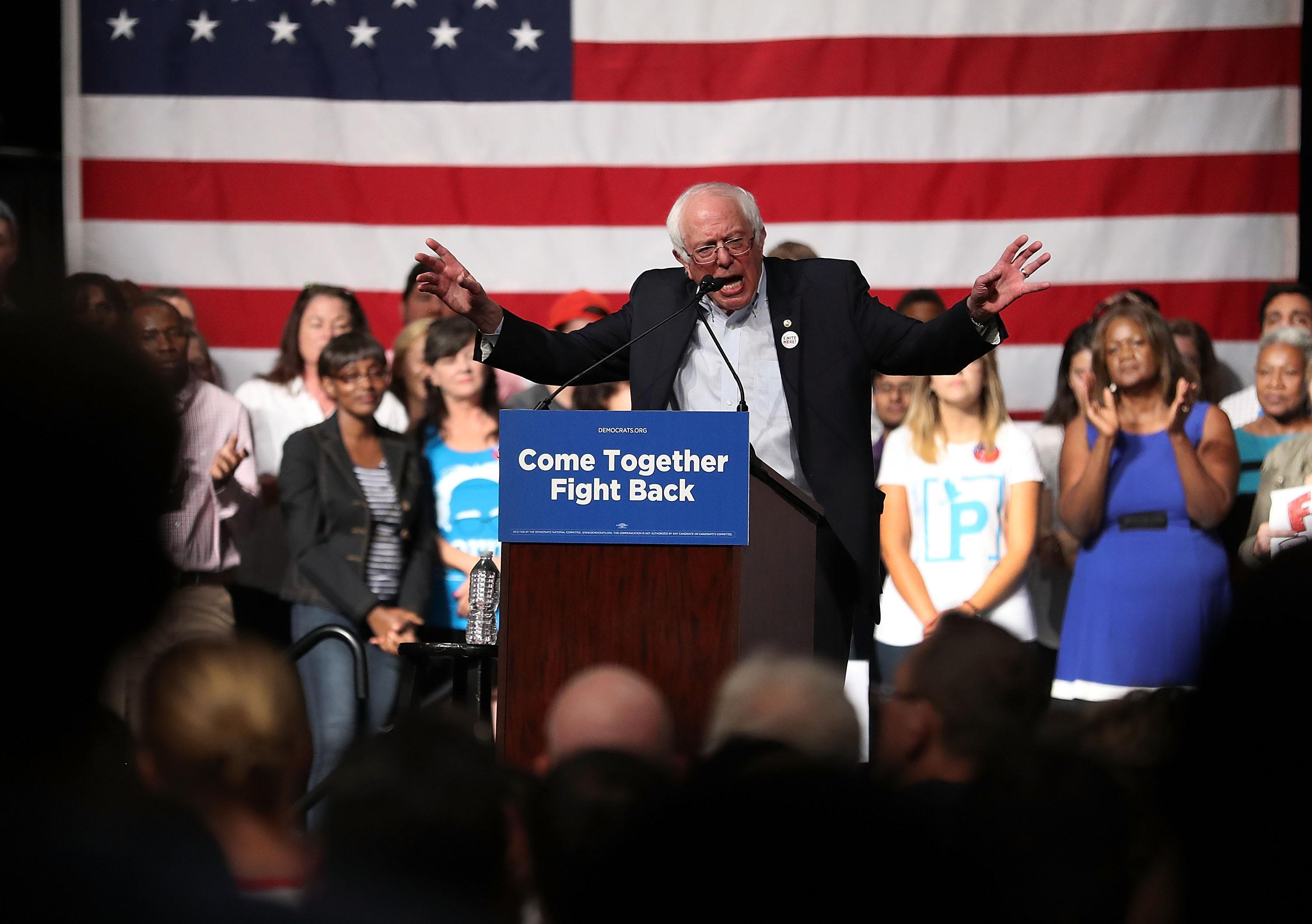Bernie Sanders opening speech at Women's Convention? Some women aren't thrilled