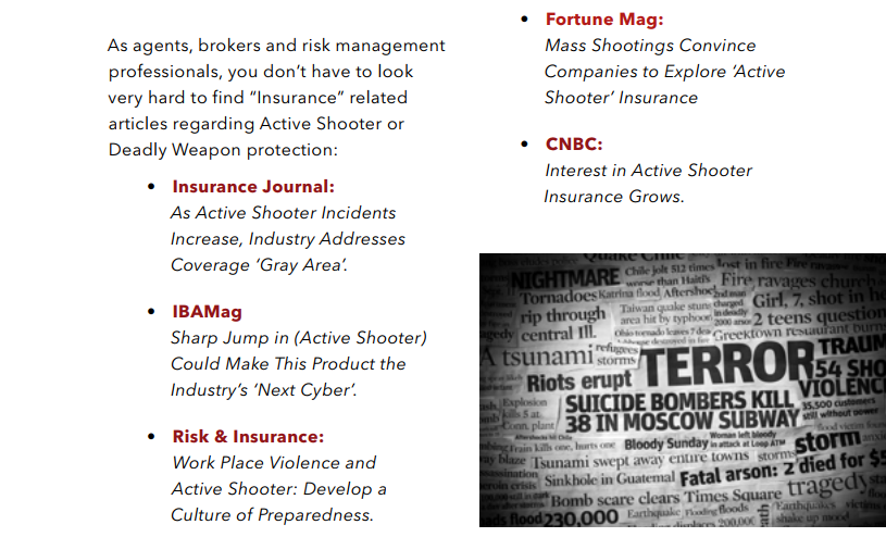 McGowan Program Administrators information on active shooter insurance