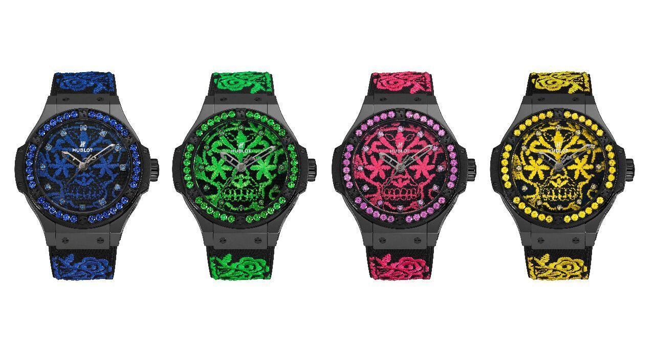 Hublot - Big Bang Broderie Sugar Skull Fluo