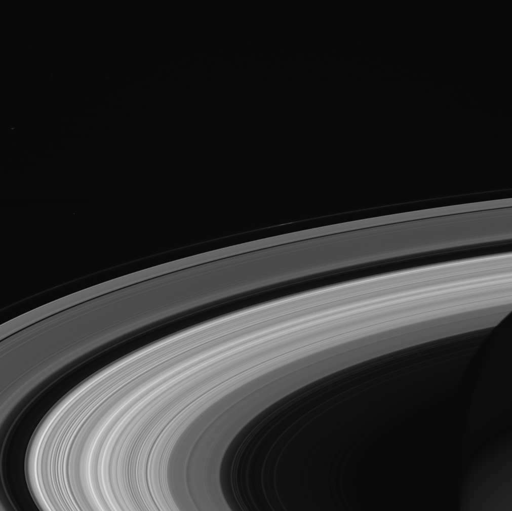 Saturn's A ring contained by not one, but seven moons