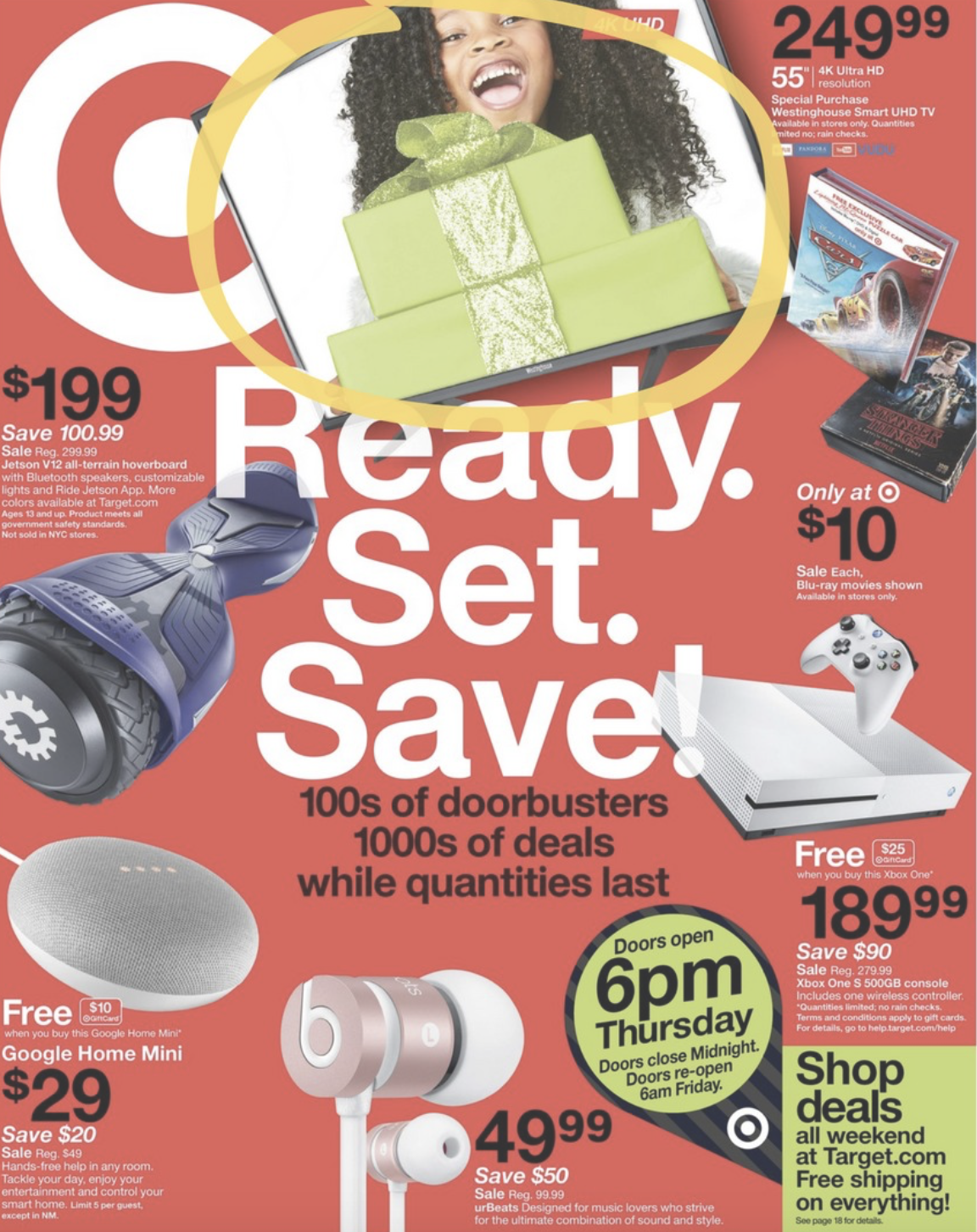 target, black, Friday, 2017, ad, deals, sales, hours, iPhone, tv, iPad, xbox, one, gaming, consoles