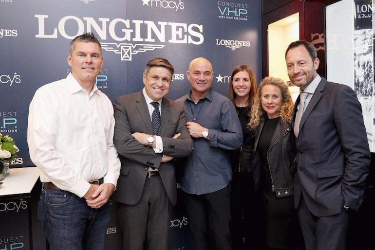 Agassi at Longines store, NYC