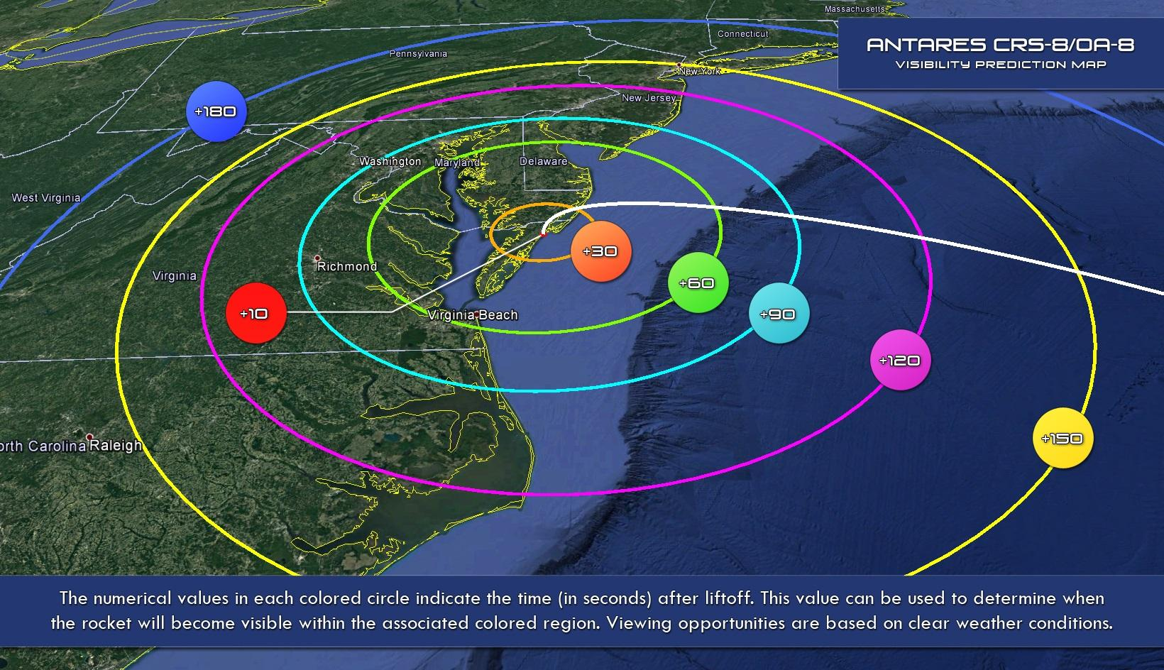 orbital atk launch map