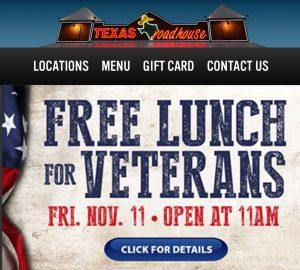 veterans, day, 2017, free, meals, freebies, restaurants, discounts, active, duty, retired, military, complete, list