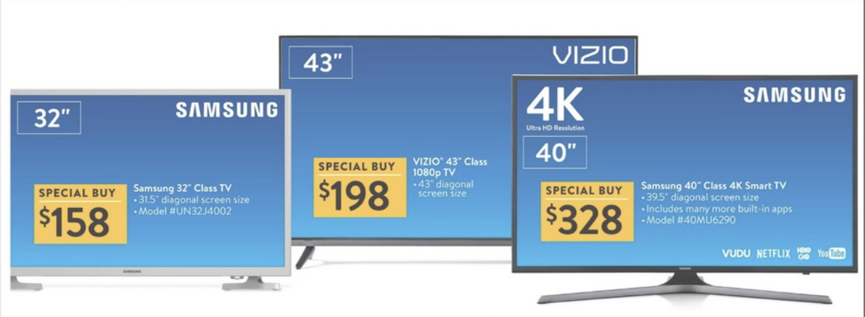 99e9d3490 Black Friday 2017 TV Deals  Walmart