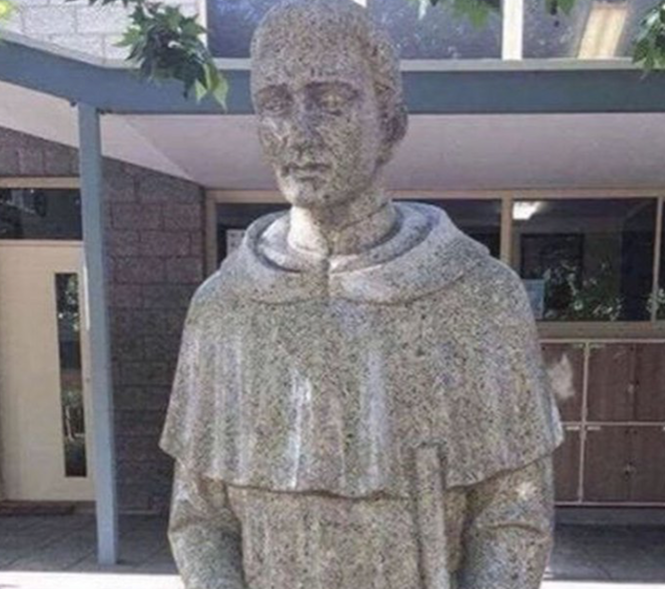 Adelaide Catholic school covers up 'potentially suggestive' statue with tarp